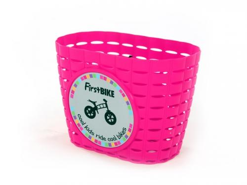 Košík na řídítka růžový