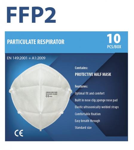10 respirátorů FFP2